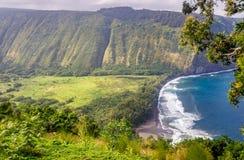 Waipio-Tal-Ausblick, große Insel, Hawaii stockfotografie