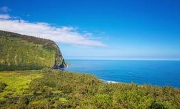 Waipio Tal, Hawaii Stockbild