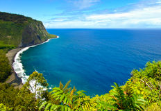 Waipio Valley, Big Island, Hawaii Stock Photos