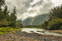 Waipio valley in Hawaii Stock Photo