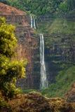 Waipo`o Falls, Waimea Canyon, Kauai, Hawaii. royalty free stock photos