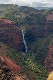 Waipoo-Fälle, Waimea-Schlucht Kauai, Hawaii Lizenzfreies Stockfoto