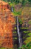 Waipoo Falls In Waimea Canyon Stock Photos