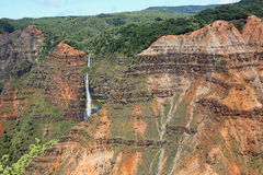 Waipoo Falls in Waimea Canyon Stock Image