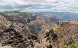 Waipoo Falls, Waimea Canyon Kauai, Hawaii Stock Photos