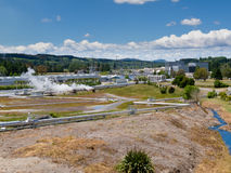 Wairakei geothermal power station in New Zealand Stock Image