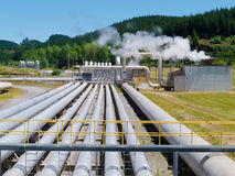 Wairakei geothermal power station in New Zealand Royalty Free Stock Image