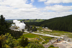 Wairakei Thermal Power Plant Royalty Free Stock Photography