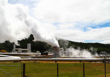 Wairakei Thermal Power Plant Royalty Free Stock Photo