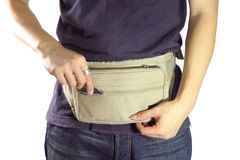 Waist belt bag Stock Photography