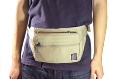 Waist belt bag Stock Images