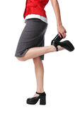 Waist down view of girl wearin Stock Photography