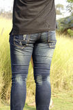 Waist with jeans Stock Image