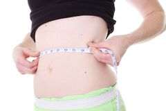Waist measure Royalty Free Stock Image