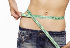 Waist measure Stock Photos