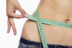 Waist measure Stock Photo