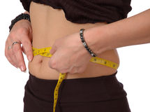 Waist measurement Stock Images