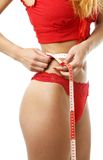 Waist measurement #2 Royalty Free Stock Image