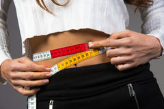 Waist measurement. Stock Photo