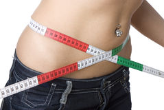 Waist measuring Royalty Free Stock Photos