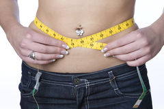 Waist measuring Royalty Free Stock Photo