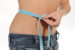 Waist measuring Stock Photography