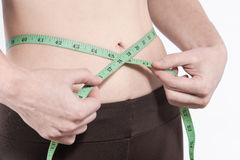 Waist measuring Royalty Free Stock Photography
