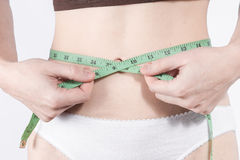 Waist measuring Stock Images