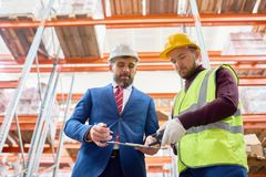 Warehouse Inspection stock photography