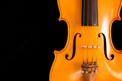 Waist of violin on black Stock Photography