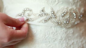 Waist wedding dress Stock Image