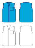 Waistcoat do trabalhador com zipper e bolso Foto de Stock Royalty Free