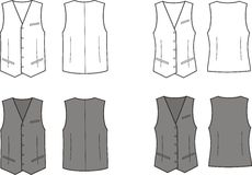 Waistcoat Royalty Free Stock Images