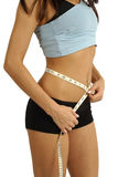 waistline μέτρου στοκ εικόνα