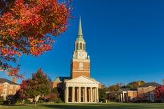 Wait Chapel at WFU. Wait Chapel, built in 1956, at Wake Forest University in Winston-Salem, North Carolina Stock Image