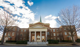 Wait Chapel at WFU. Northern view of Wait Chapel at Wake Forest University in Winston-Salem, North Carolina Royalty Free Stock Photos