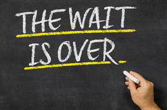 The wait is over Stock Photo