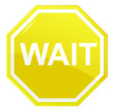 Wait stop sign,  Stock Image