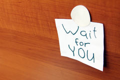 Wait for you cards Royalty Free Stock Photography