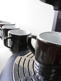 Wait Your Turn 2. Cups in line, waiting their turn to get some coffee stock images
