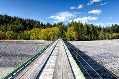 WAITAKI rzeka, MACKENZIE COUNTY/NEW ZEALAND, LUTY - 23: Drewno obrazy stock