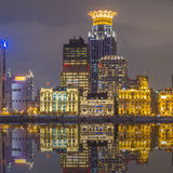 Waitan, the landmark Shanghai, night view Stock Image
