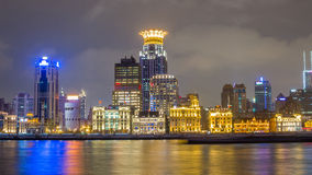 Waitan, the landmark Shanghai, night view Royalty Free Stock Photos