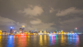 Waitan, the landmark Shanghai, night view Stock Photography
