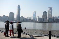 Waitan Shanghai Arkivfoto