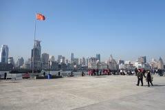 Waitan Shanghai Arkivbild