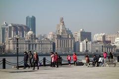 Waitan Shanghai Royaltyfria Bilder