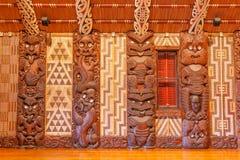Free Waitangi Maori Meeting House Interior Royalty Free Stock Photos - 177174468