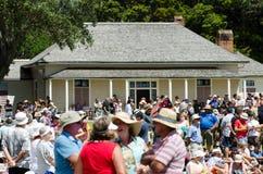 Waitangi Tag und Festival - gesetzlicher Feiertag 2013 Neuseelands stockfotos