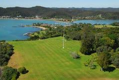 Waitangi Treaty Grounds. Bay of Islands, New Zealand Stock Image